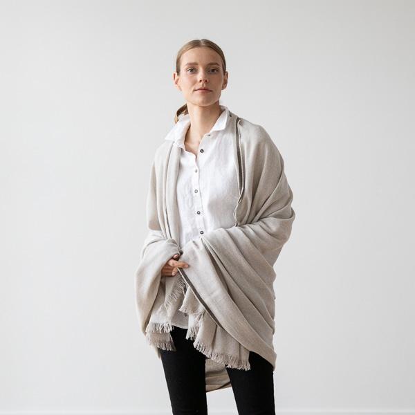 Et tørklæde i uld